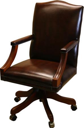leather swivel office chair. Mini Gainsborough Swivel Chair Plain Leather Office